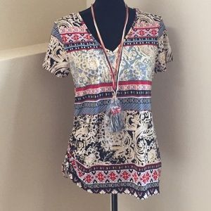 Tunic Top w/Necklace